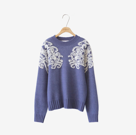 honeysuckle, knit