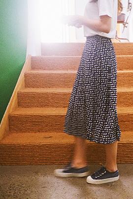 blue heart, skirt