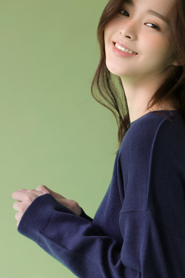 azure, knit (navy)
