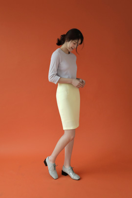 chou cream, skirt (yellow)