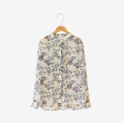 apricot flower, blouse