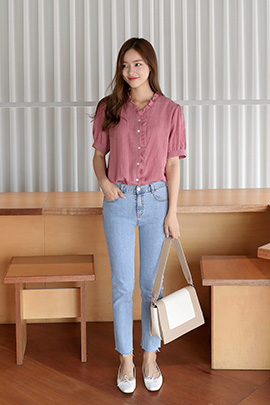 mos frill, blouse