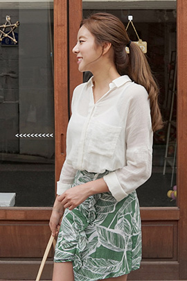 gauze look, blouse