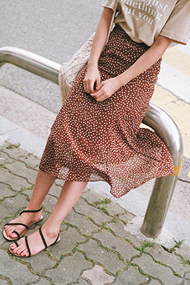 brown dot, skirt