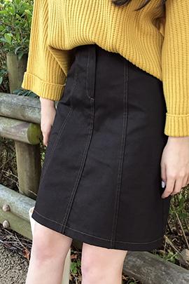 stitch button, skirt