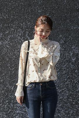 nota flower, blouse