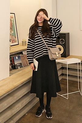 knit black, skirt