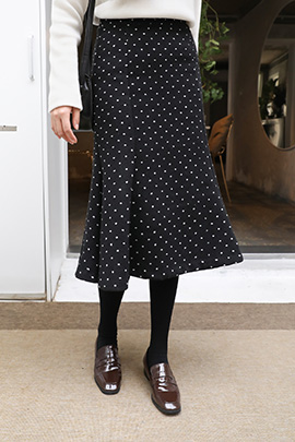 a dot, skirt [기모원단]