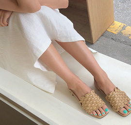 square weaving, shoes
