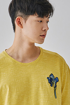 [JIMMY]irises yellow, tee_m