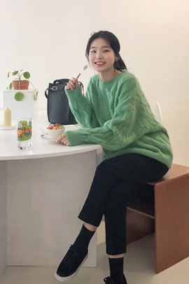 twist coloring, knit