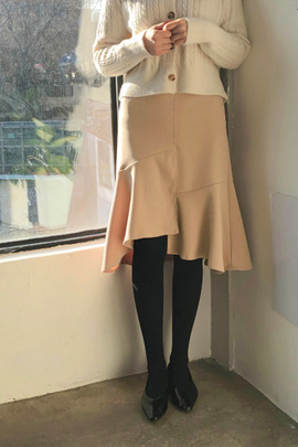 by frills, skirt