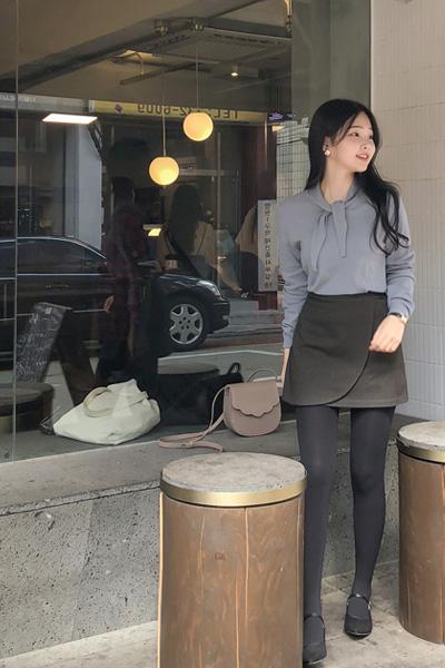 maple wool, skirt