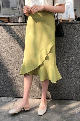 荷叶边裙摆靓丽鱼尾裙