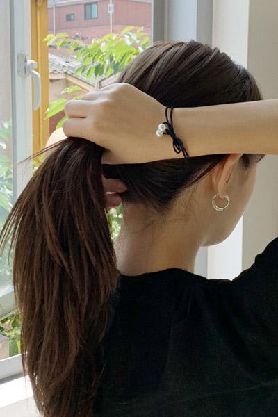 珍珠蝴蝶结发带