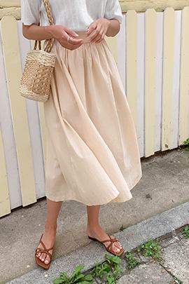 宽松半身伞裙