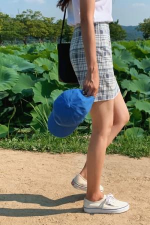 珠串格纹包臀裙
