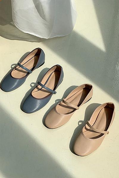 气质淑女百搭圆头单鞋