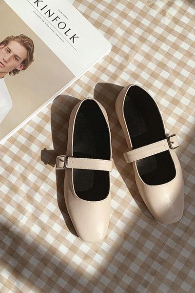 浪漫复古系带单鞋