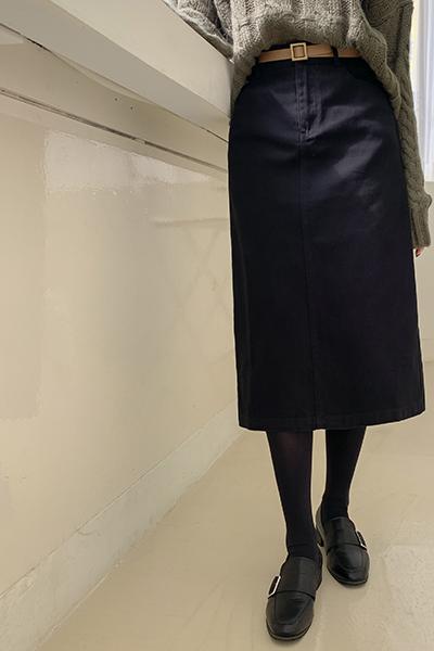 百搭H型直筒长裙(腰带)