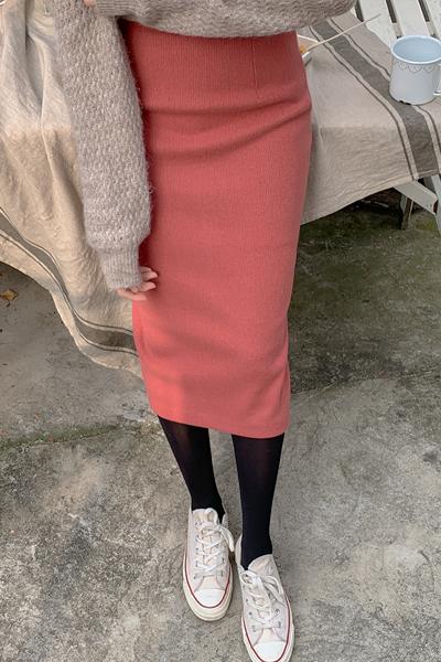 百搭H型单色简约长裙