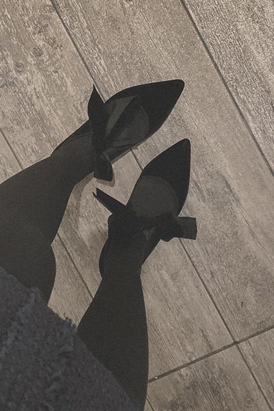 气质可爱系带尖头单鞋