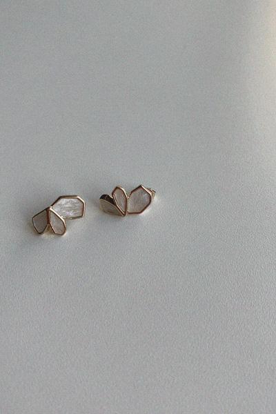 皇冠宝石耳钉