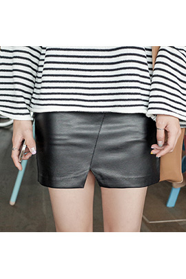plain leather_skirt