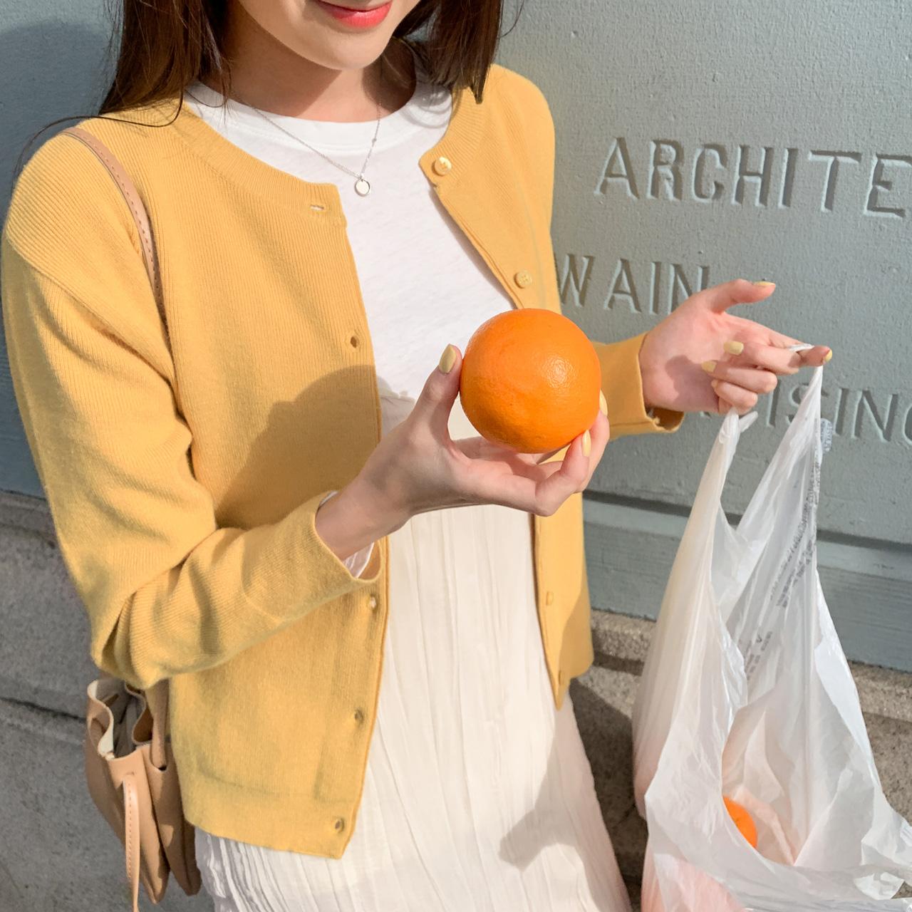 甜甜圆领休闲针织开衫