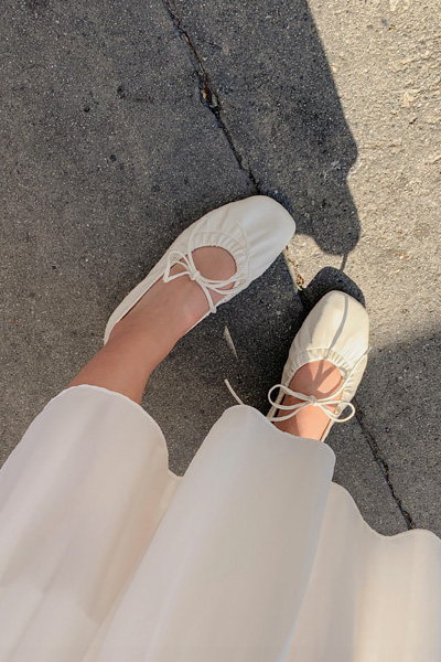 可爱圆头系带平底单鞋
